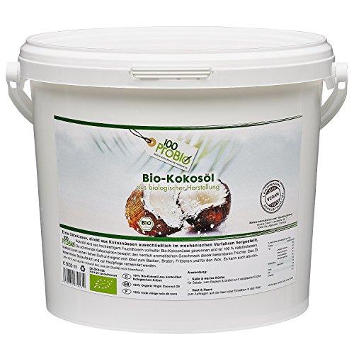 100ProBio Kokosöl nativ, PE-Dose, 1er Pack (1 x 5 l)