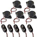 RUNCCI-YUN 5PCS DC 3 – 24 V elettronico buzzer continuo suono intermittente segnale acus...
