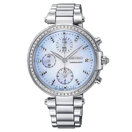 Seiko Quarz Damen-Uhr Edelstahl mit Metallband SNDV39P1