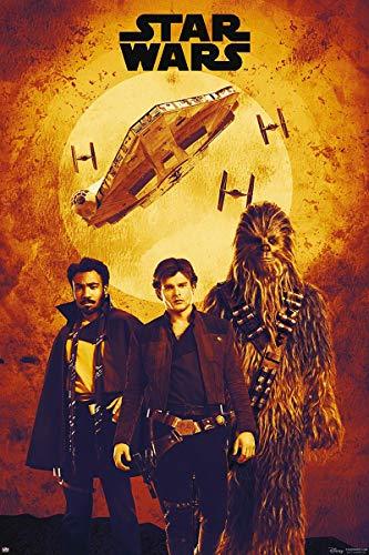 Star Wars Póster Solo Story - Protagonistas [Sepia Montage] (61cm x 91,5cm) + 1 Póster con Motivo de Paraiso Playero