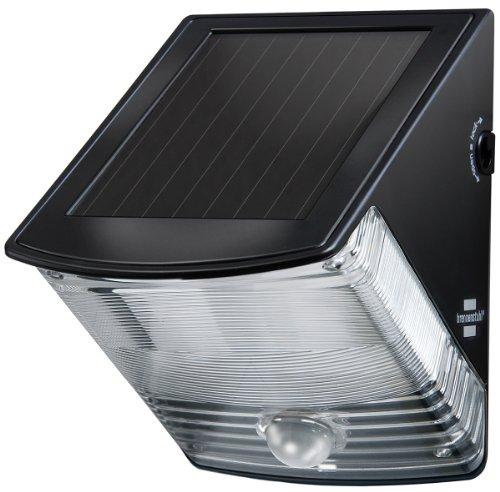 Brennenstuhl Ledlamp op zonne-energie met bewegingsmelder, buitenverlichting met geïntegreerd zonnepaneel en infrarood bewegingssensor, kleur: zwart