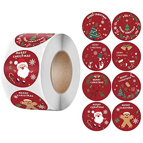 Etiquetas Adhesivas Navidad 500 Marca Werakou