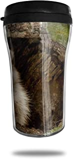 FTRGRAFE Raccoon HD Wallpapers Travel Coffee Mug 3D Printed Portable Vacuum Cup,Insulated Tea Cup Water Bottle Tumblers for Drinking with Lid 8.54 Oz (250 Ml)
