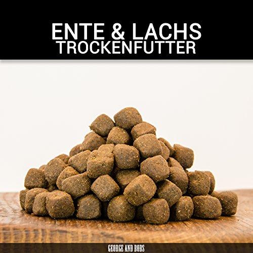 George & Bobs Ente & Lachs Adult | 15 kg | Getreidefrei | 70% Fleischanteil | Superfoods | Trockenfutter | Grünlippmuschel | für ausgewachsene Hunde