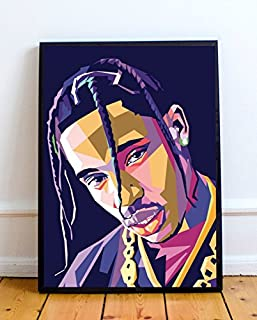 7db20c413a44 Travis Scott Limited Poster Artwork - Professional Wall Art Merchandise  (More Sizes Available) (