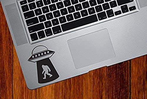 Myrockshirt UFO Kidnapping Big Foot Trackpad Sticker Notebook MacBook Laptop Funny Sticker Decal Car Sticker UV Car Car Wash Resistant Professional Quality Wall Tattoo