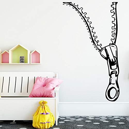 Pegatinas de pared con cremallera de estilo nórdico, sala de estar, decoración mural para habitación de niños, pegatinas de pared A8 L 43x75cm