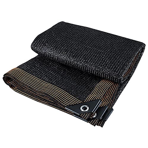 WWWANG 90% UV Block Shade Paño con Ojales, Black High-Density Black Black Netting for Invernahouse/Barn/Kennel/Patio/Patio Protección Solar, Aislamiento térmico. (Size : 4M X 5M)