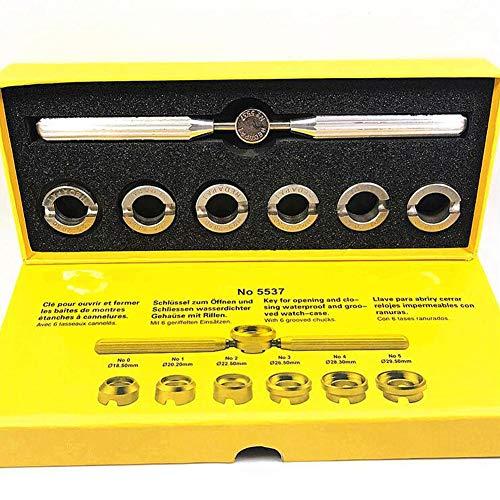 Kit de herramientas de reparación para relojería con abridor de carcasa trasera de...
