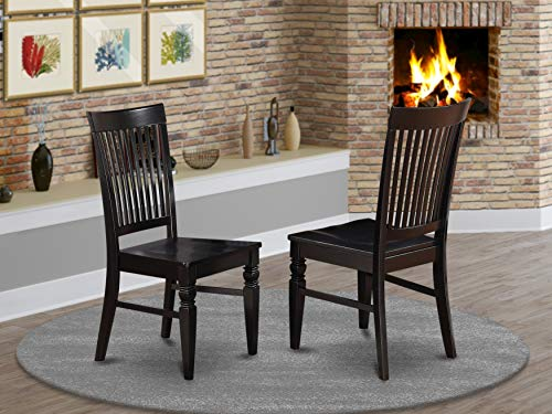 East West Furniture Weston kitchen chairs - Wooden Seat...