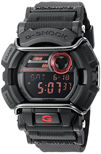 Casio Men's Quartz Resin Automatic Watch, Color:Black (Model: GD-400-1CR)