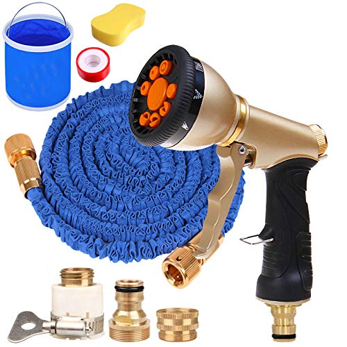 3 Times Light Weight Uitbreiden Garden Water Tuinslang Met 9 Functies Nozzle, Telescopische Waterpijp Household Car Wash Water Gun Set,30M