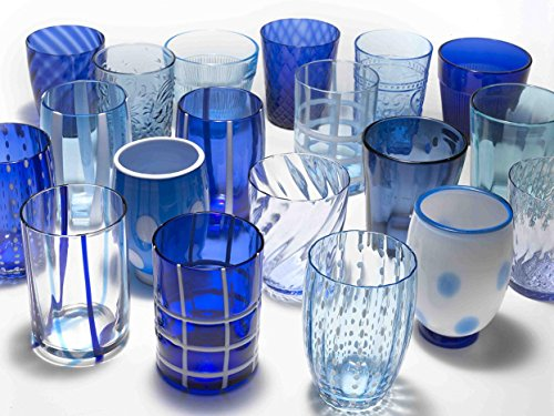 Zafferano - Melting Pot Set 6 Bicchieri Tumbler Misti Blu/Acquamarina MP00198