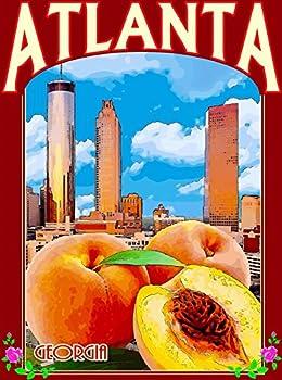 MAGNET Atlanta Georgia City Scape Peaches United States Travel Advertisement Magnet