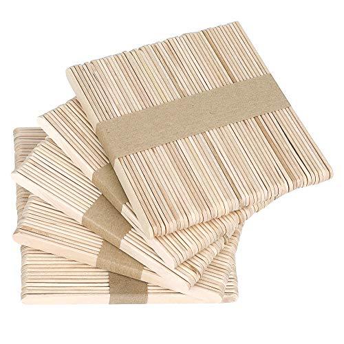 Paquete y tamaño: Incluye palos artesanales de madera de 250 piezas. Dimensiones: 11.3 x 1.0 x 0.2 cm / 4.45 x 0.39 x 0.08 pulgadas, los bordes redondeados hacen que los palos artesanales sean seguros para los niños, es un excelente regalo para sus a...