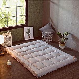 HM&DX Plegable Colchón Suelo Tatami, Grueso Acolchado Suave Antiescaras Colchón futon Dormir Mat para Dormitorio Alcoba -Gris 120x200cm(47x79inch)