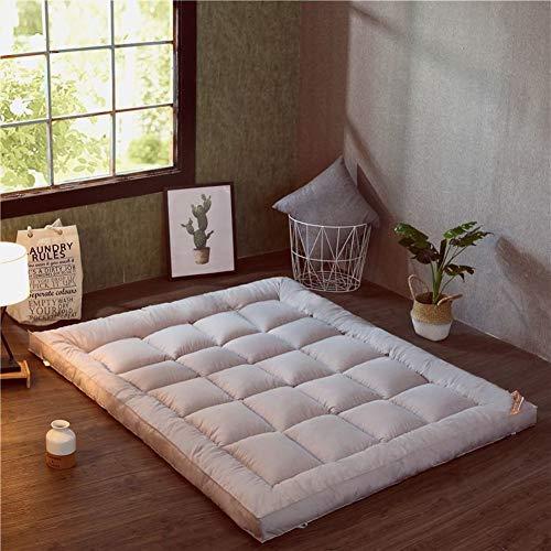 HM&DX Plegable Colchón Suelo Tatami, Grueso Acolchado Suave Antiescaras Colchón futon Dormir Mat para Dormitorio Alcoba -Gris 135x200cm(53x79inch)