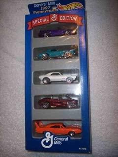 Hot Wheels 1997 Designer Collection General Mills 58 Corvette 67 Camaro 70 Dodge Daytona Charger 1980 Stutz Blackhawk 96 Mustang Collectible Collector Car Mattel