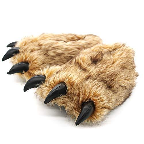 GACYSMD Zapatillas de Animales para nios y Adultos, Traje de diversin para nios, Zapatillas peludas acogedoras Halloween Shoes de Navidad ( Color : A)
