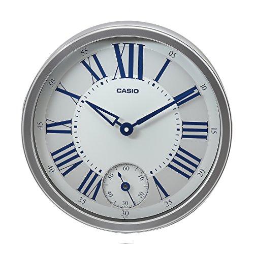 Casio Round Resin Wall Clock (IQ-70-8DF, Silver)