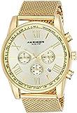 Akribos Omni Mens Dress Watch - Round Radiant Sunburst Dial - Swiss Chronograph...