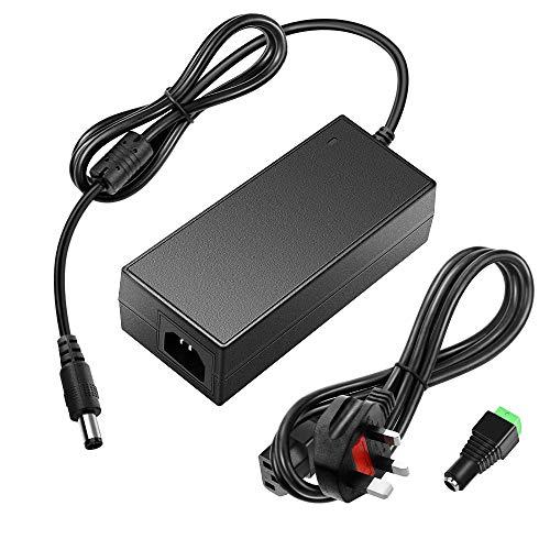 SHNITPWR 24V DC Power Supply 24 Volt 5A 120W Power Adapter 100V~240V AC to DC Converter Transformer 5.5x2.5mm Plug for 5050 3528 LED Strip Light 3D Printer LED Driver CCTV Security System LCD Monitor