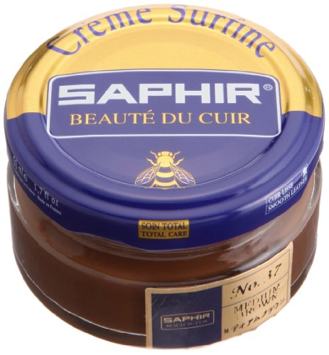 Saphir Creme Surfine Pommadier Shoe Polish 50ml - Medium Brown