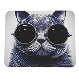 Easyeeasy Elegante patrón de Gato Antideslizante para Ordenador portátil, Alfombrilla para Ratones, Alfombrilla para ratón láser óptico, cómoda y Bonita Alfombrilla de ratón para Juegos