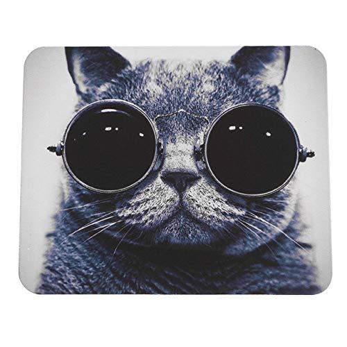 Easyeeasy Elegante patrón de Gato Antideslizante para Ordenador portátil, Alfombrilla para Ratones,...