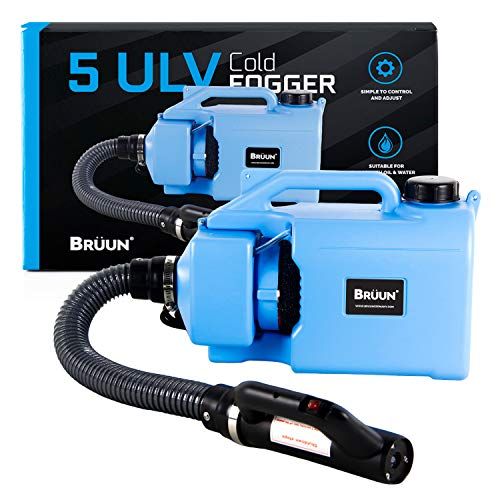 BRÜUN Disinfectant Cold Fogger ULV Atomizer Disinfection Machine 5L Electric Fogger Sprayer Office Home 1.32 Gallon Cord/Wire Operated fogger with 3 Prong Plug Long Nozzle and Wide Coverage