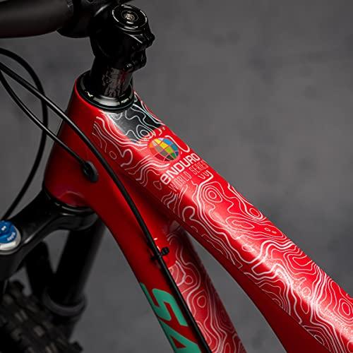 DYEDBRO - Matte Finish - Enduro World Series (White) Bike Frame Protector Dyed Bro