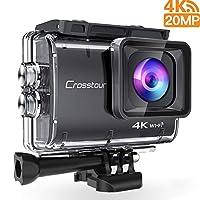 4K Ultra HD Action Camera - Con una ricca risoluzione video: 4K / 50FPS, 2.7K / 30FPS, 1440P / 30FPS, 1080P / 30FPS, 720P / 60FPS e così via, che offrono un'esperienza fotografica altamente riduttiva per te, ti consente di scattare incredibili foto e...