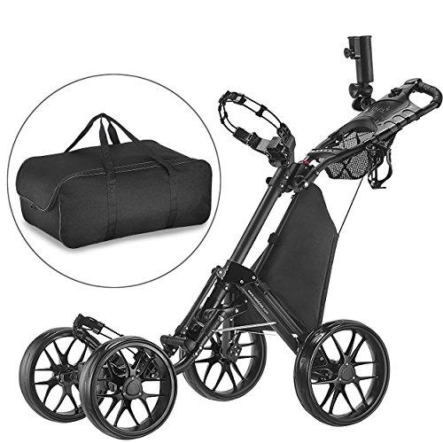 CaddyTek un clic Piegati Carrello da Golf cart 4 ruote...
