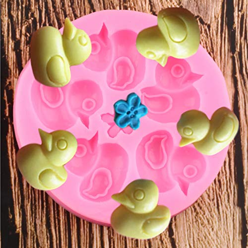 ZPZZPY 3D Duck Silicone Molds Flower Cupcake Topper Fondant MouldBirthday Cake Decorating Tools Chocolate Gumpaste Moulds