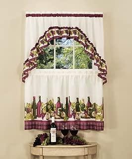 Achim Home Furnishings Chardonnay Tier and Swag Set, 57