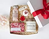 Valentines Day Luxury Spa Day Gift for Women- Relaxing Lavender Essential Oil Spa Day Self Care Kit