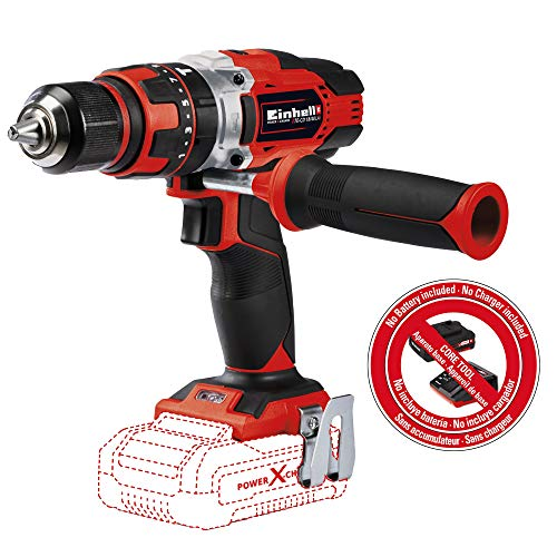 Einhell TE-CD Power X-Change 18-Volt Cordless 1/2-Inch, 390 Inch-Lbs, MAX 1500 RPM, Impact Hammer Drill/Driver w/ 21+1+1 Torque Settings, LED, 2 Speed Gearing, MAX 24000 Blow Rate, Belt Clip