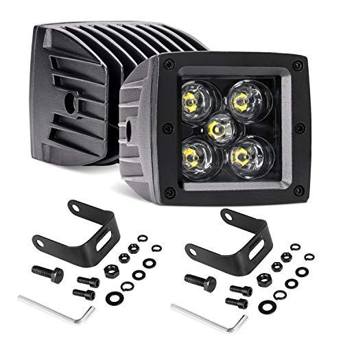 LED Cubes, LED Light Bar 3 Inch 2PCS 100W LED Pods Square Driving Lights Fog Lights Spot Beam LED Cube Off Road Work Lights Truck Bumper Light for ATV Utv 4wd Motorcycle Offroad Pickup