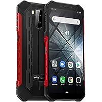 "teléfono moviles Resistentes(2019), Ulefone Armor X3 con Modo Submarino, Android 9.0 5.5 ""IP68 Impermeable móvil Trabajo, Dual SIM, 2GB + 32GB, 5000mAh Batería, Desbloqueo Facial GPS Rojo"