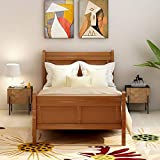 Wood Platform Bed TwinBed Frame Mattress Foundation Sleigh Bed with Headboard/Footboard/Wood Slat Support