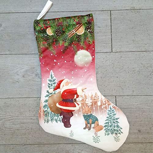 Medias de Navidad Colgantes Grandes de 20'Titulares de Bolsas de Regalo de Dulces de muñeco de Nieve de Santa para...
