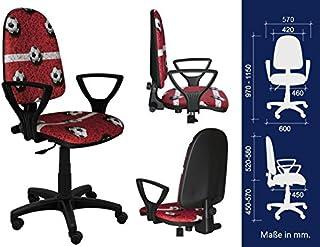 La mejor para los niños silla de escritorio de los niños silla de oficina silla giratoria Formula1 F1 Motor Princesa Niña de Fútbol (BRED Futbol Rojo)