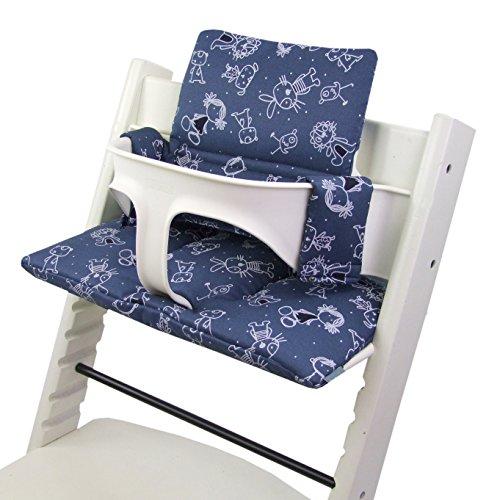Babys-Dreams - Ensemble coussin d'assise en 2 parties pour chaise haute Stokke Tripp Trapp - Coussin de rechange