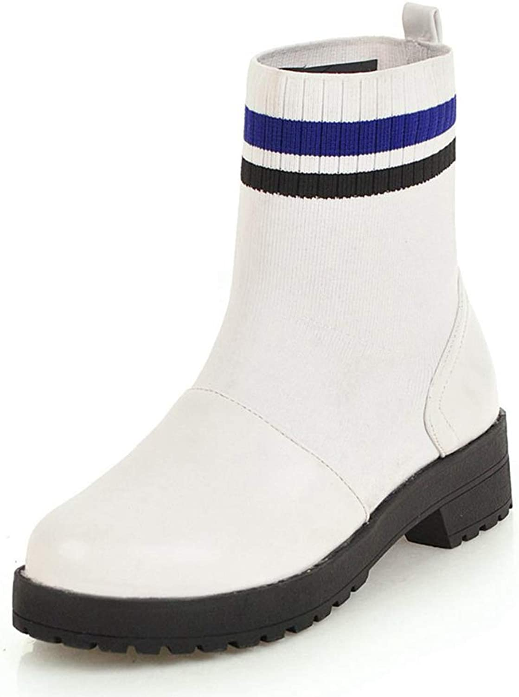 Winter Ankle Ankle Ankle stövlar Platform Mode Varma kvinnor springat Toe Square Heel Kvinnliga skor  rabattförsäljning