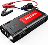 DBPOWER 2500A Peak 21800mAh Car Jump Starter- for up to 8.0L Gasoline/6.5L Diesel Engines with LCD Screen, USB Quick Charge, 12V Auto Battery Booster