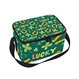 FANTAZIO Meal Prep Packages Shamrock Lucky Pattern lonchera