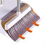 Escoba NLIAN recogedor, Cepillo e Cacerola del Polvo Combo Extended Palanca Eliminar Vello con una función de Wisp raspador de Cocina Suelo de Madera Suministros Azulejos limpios