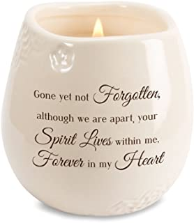 Pavilion - Gone Yet Not Forgotten, Although We are Apart, Your Spirit Lives Within Me, Forever in My Heart 8 oz Soy Filled Ceramic Vessel Candle