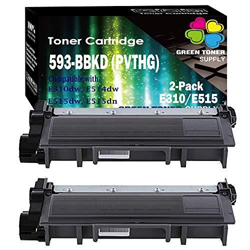 GTS Compatible PVTHG 593-BBKD Toner Cartridge Replacement [High Yield], for Dell E310dw E514dw E515dw E515dn LaserJet Printers (Set of 2, Black)