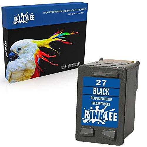 RINKLEE Remanufacturado para HP 27 XL Cartucho de Tinta Compatible con HP Deskjet 3320 3325 3420 3520 3535 3550 3620 3650 5650 5850 Fax 1240 PSC 1110 1205 1210 1215 1315 Officejet 4215 | Negro